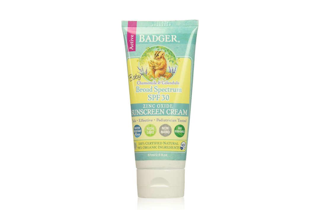 Badger Baby Broad Spectrum SPF 30 Sunscreen.