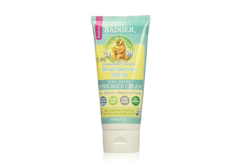 Badger Baby Broad Spectrum SPF 30 Sunscreen.