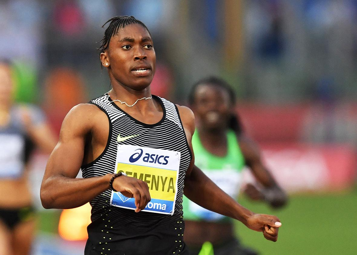 South Africa's Caster Semenya competes in the Women's 800m event at the Rome's Diamond League competition on June 2, 2016 at the Olympic Stadium in Rome.