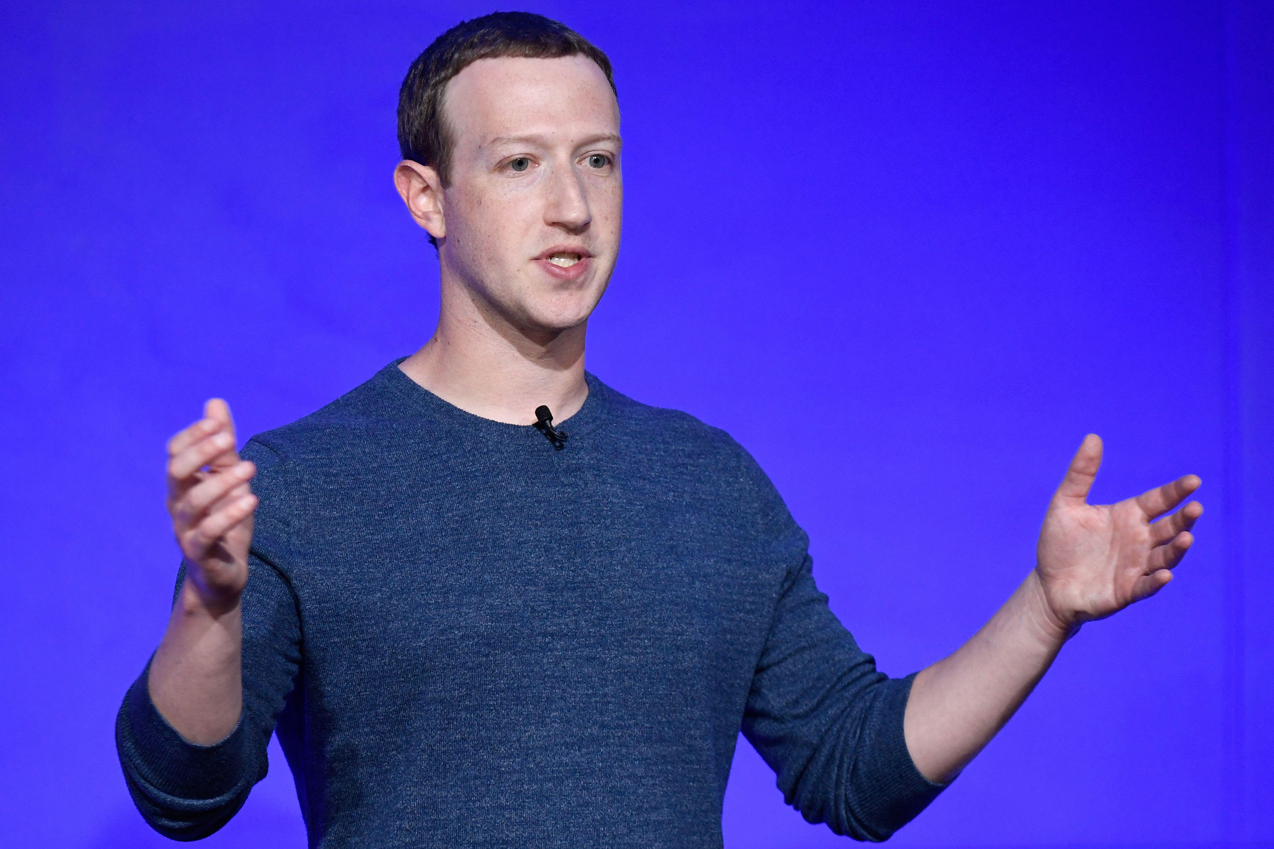Facebook CEO Mark Zuckerberg speaks during a press conference on May 23, 2018.