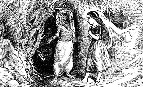 A 1914 illustration of 'Thumbelina' from an English translation of Hans Christian Anderson's tales.
