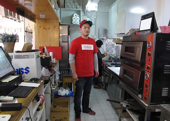Jisoo Kim at Pizza by the Slice.