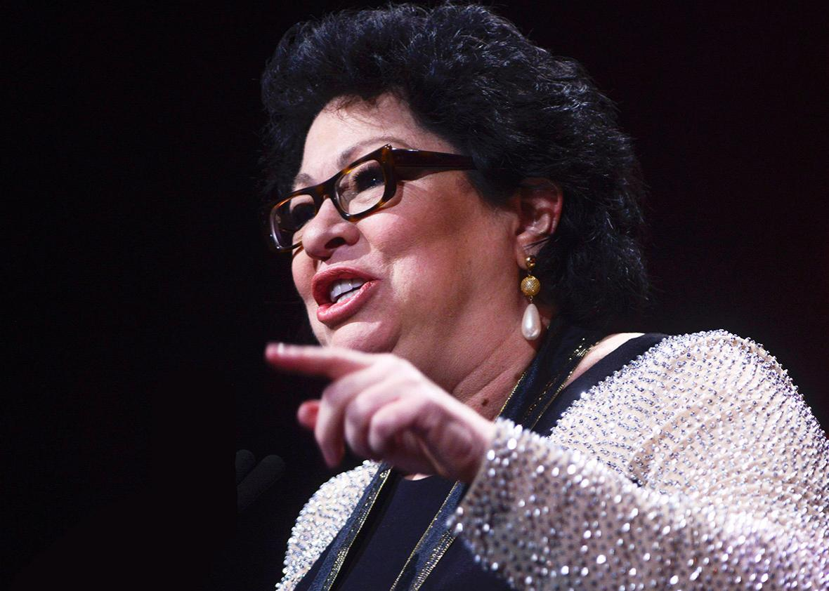 Supreme Court Justice Sonia Sotomayor receives the Leadership Award during the 29th Hispanic Heritage Awards at the Warner Theatre on September 22, 2016 in Washington, DC.