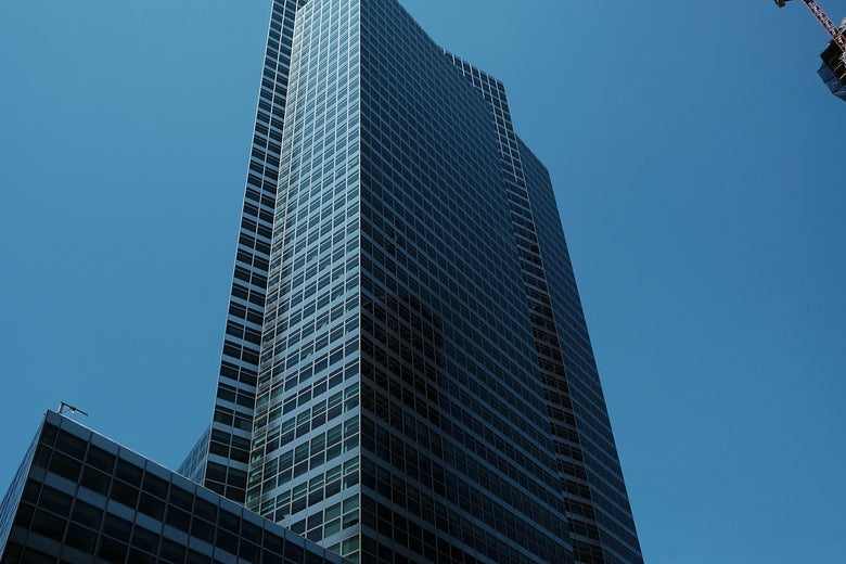 Goldman Sachs' New York headquarters in lower Manhattan.