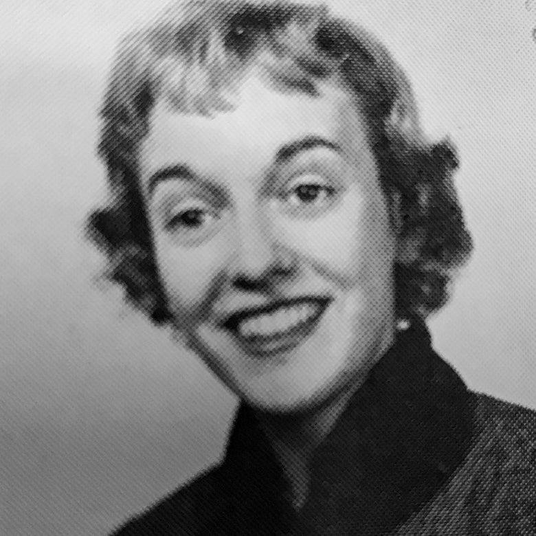 Yearbook photo of Virginia Davis Nordin.