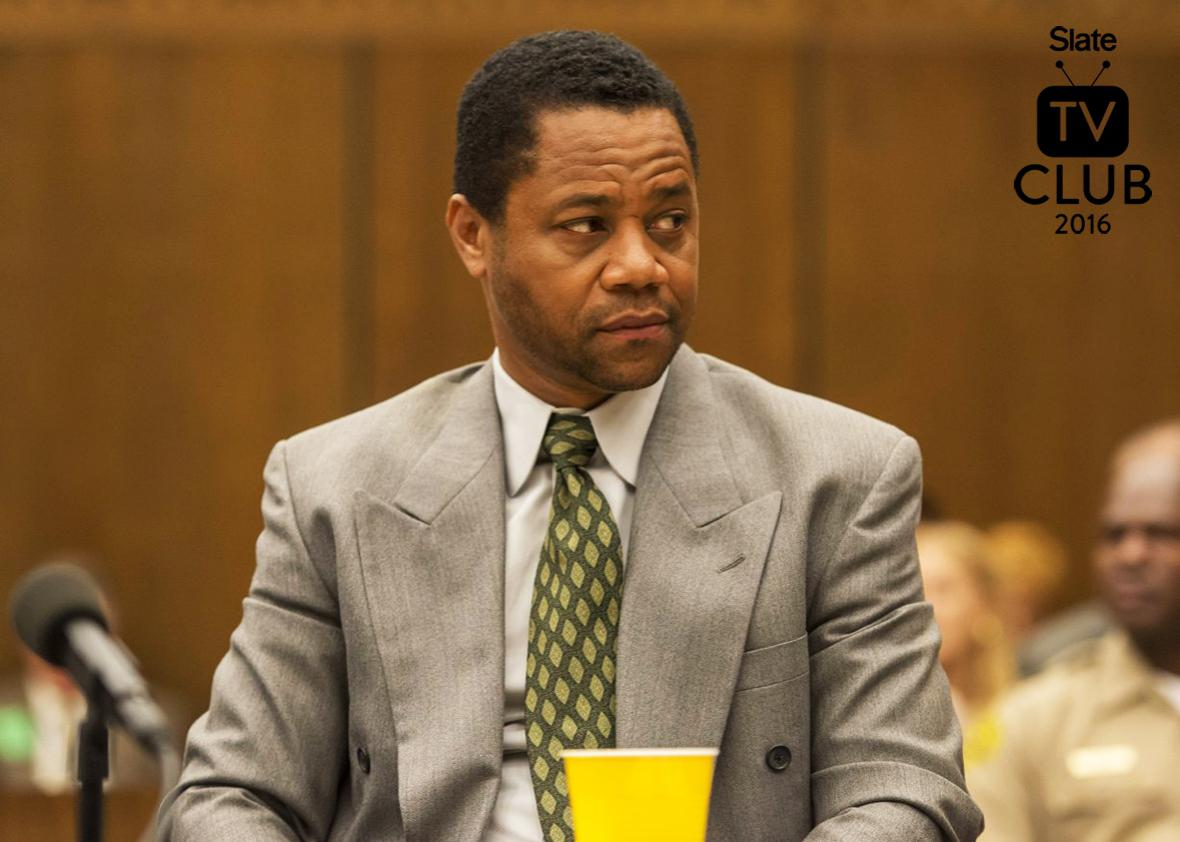 Cuba Gooding Jr. in The People v. O.J. Simpson: American Crime Story.