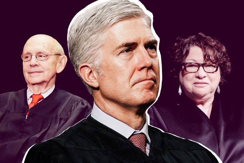 Justices Stephen Breyer, Neil Gorsuch, and Sonia Sotomayor.