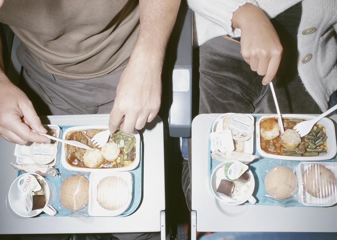 Bland airline food