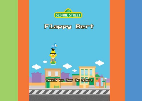 Sesame Street Flappy Bird game: Flappy Bert