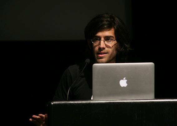 Aaron Swartz at the Freedom to Connect conference in Washington, D.C., in May 2012.