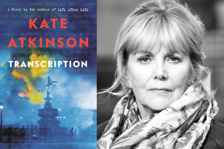 Transcription book cover and Kate Atkinson