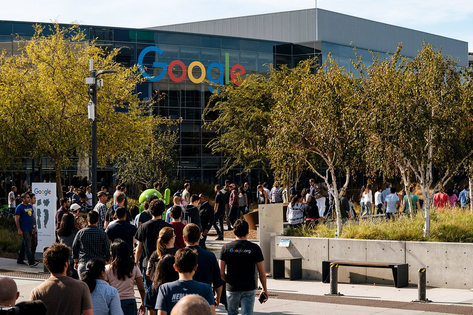 Google employees walk off the job to protest the company's handling of sexual misconduct claims.