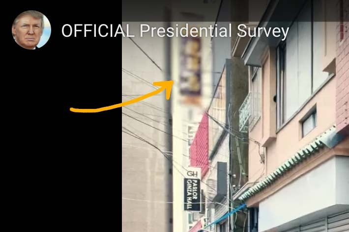 Footage in Trump campaign ad.