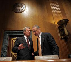 Photograph of US Democratic Senator from Montana Max Baucus and Republican Senator from Iowa Chuck Grassley. Click image to expand.