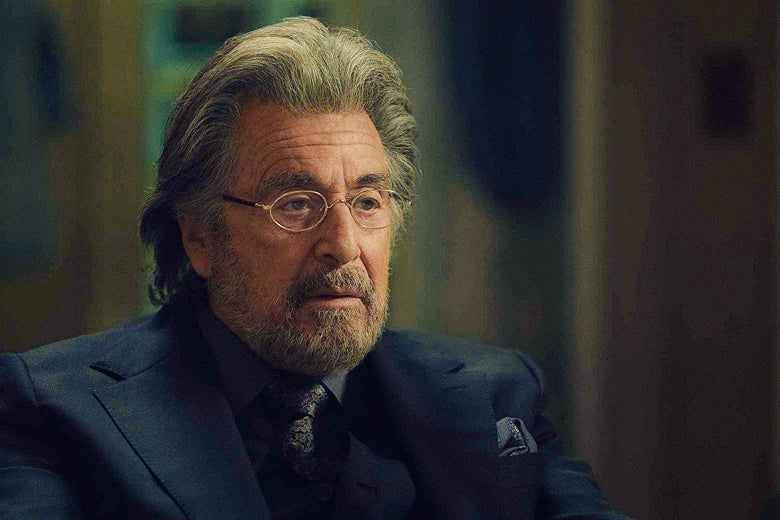 Al Pacino in a closeup from Hunters.