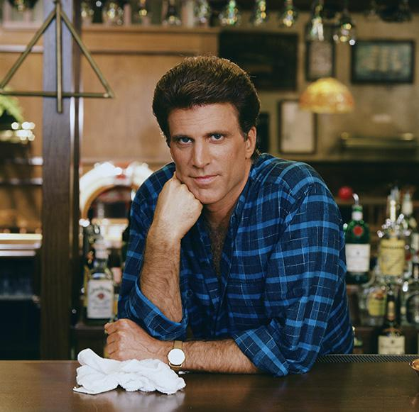 Ted Danson as Sam Malone, Cheers.