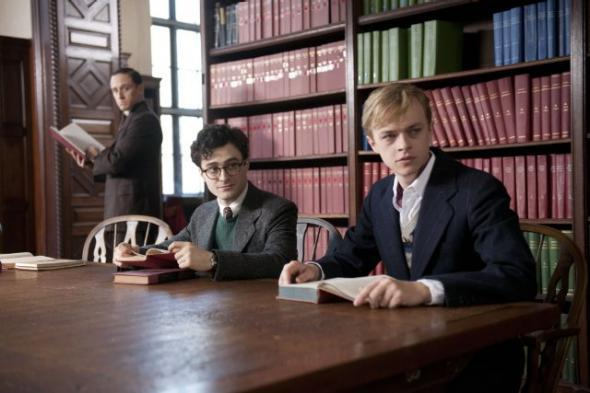 William Burroughs (Ben Foster), Allen Ginsberg (Daniel Radcliffe), and Lucien Carr (Dane DeHaan) in Kill Your Darlings