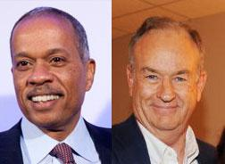 NPR host Juan Williams and TV personality Bill O'Reilly.