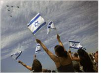 A military parade marking Israel's 60th anniversary. Click image to expand.