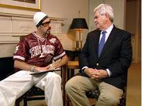 Ali G and Newt Gingrich