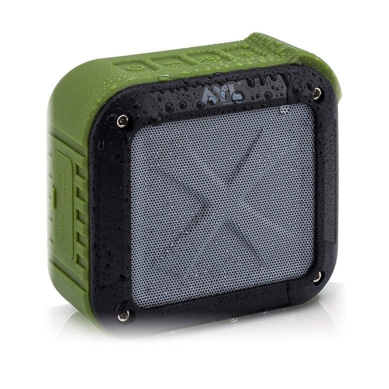 A waterproof Bluetooth speaker.