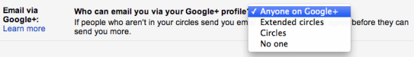 "How to opt out of ""Anyone on Google+"" in Google settings"