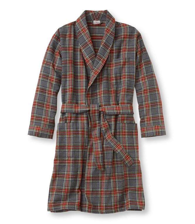 L.L.Bean Scotch Plaid Flannel Robe