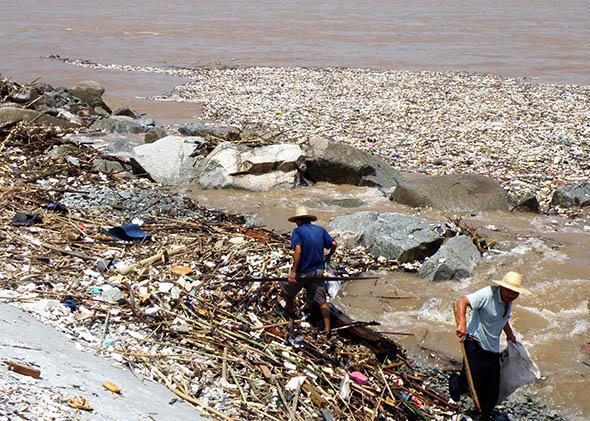 River Trash.