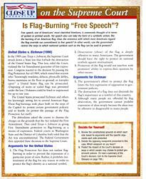 One page of the 6-pound book covers free speech
