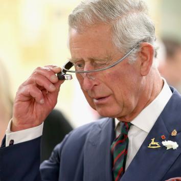 Prince Charles Google Glass