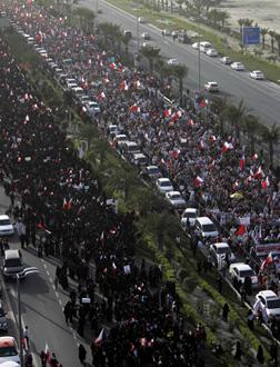 Bahraini anti-government protesters. Click image to expand.