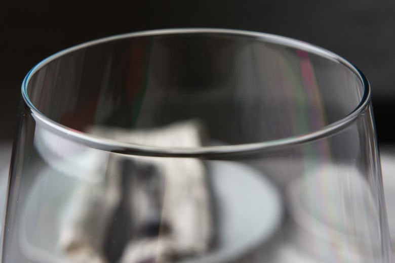 rim of the Riedel Veritas glasses