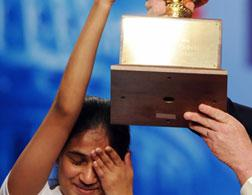 Kavya Shivashankar, 2009 Scripps National Spelling Bee champion. Click image to expand.