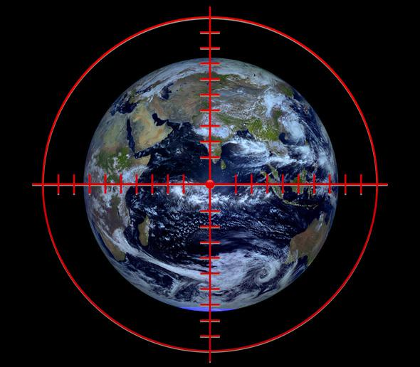 Earth in the crosshairs