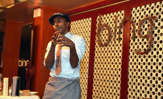 Party with Marcus Samuelsson on the shareholders' dime. Why not?