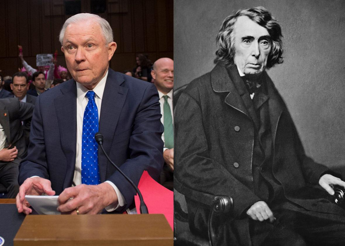 Jeff Sessions and Roger B. Taney