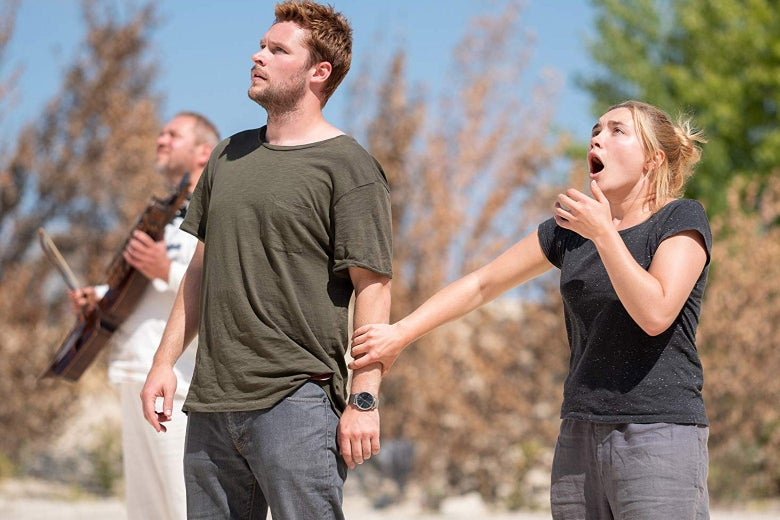 Florence Pugh and Jack Reynor in Midsommar.