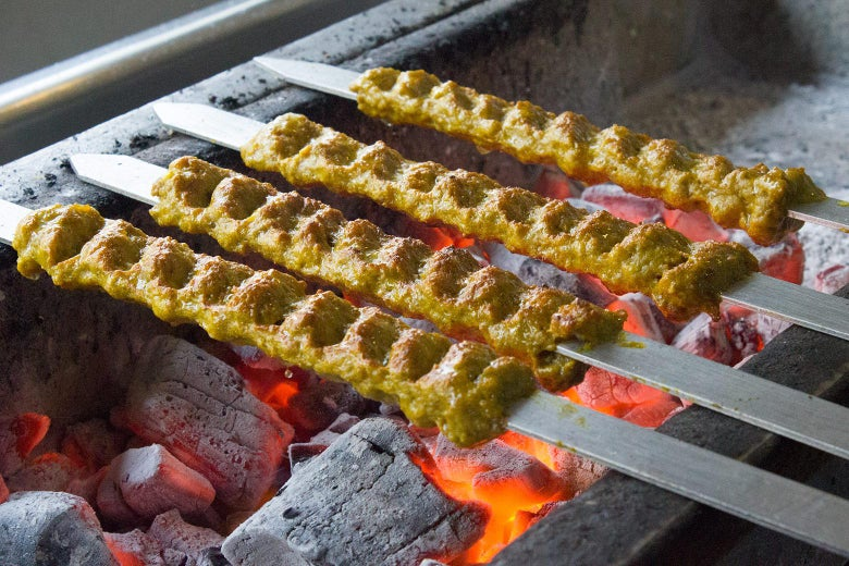 Kebabs on the grill.