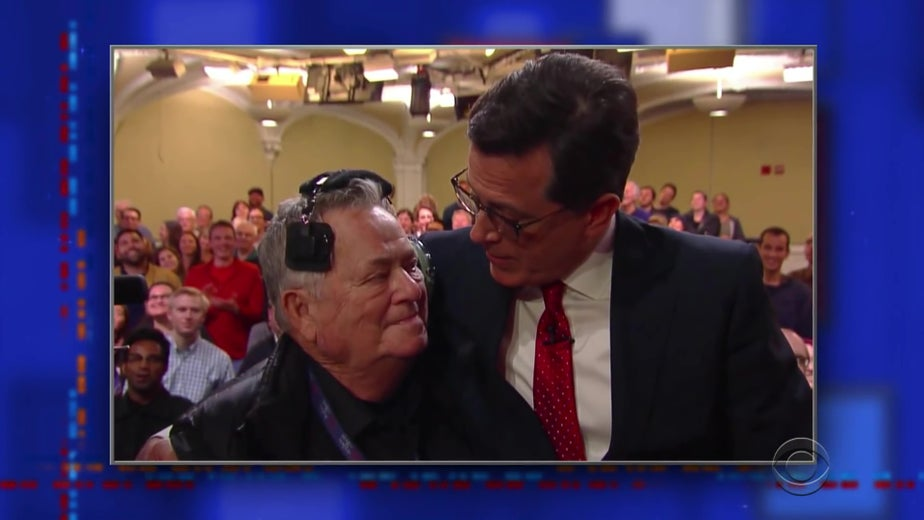 Stephen Colbert Pays a Heartwarming Tribute to Recently Deceased Late Show and Colbert Report Cameraman John Meiklejohn