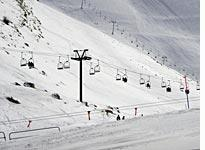 The ski slopes at Faraya are just 45 minutes from downtown Beirut (click on image to expand)
