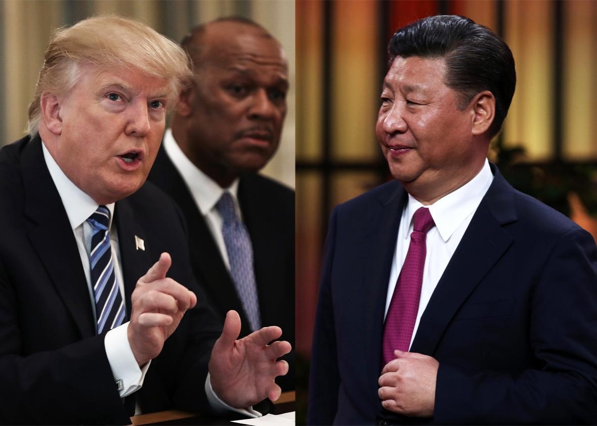 Trump and Xi Jinping.