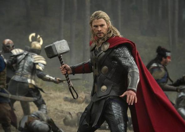 Chris Hemsworth in Thor: The Dark World.