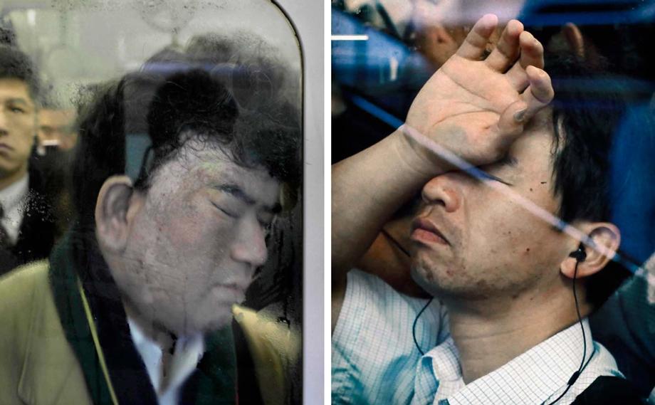 Tokyo Compression, Michael Wolf, Tokyo, Japan, subway