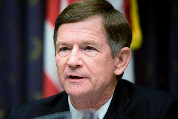 Committee ranking member Representative Lamar Smith (R-TX)speaks during a hearing of the House Judiciary Committee on Capitol Hill June 20, 2008 in Washington, DC.