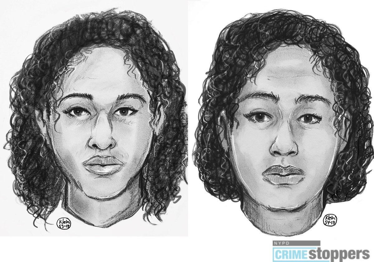 A police sketch of the two sisters