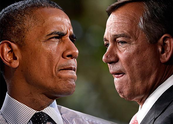 President Barack Obama and U.S. Speaker of the House John Boehner.