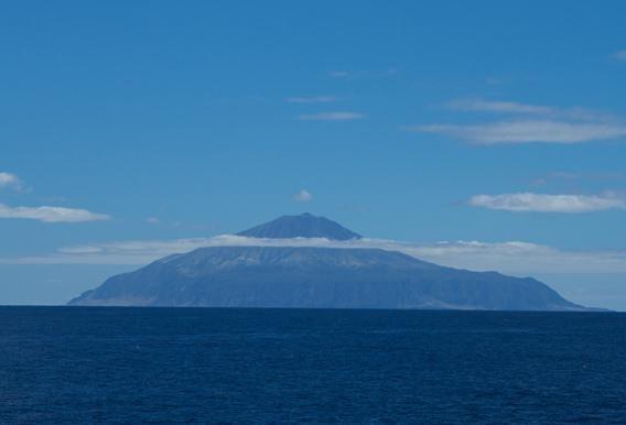 Tristan da Cunha from the side