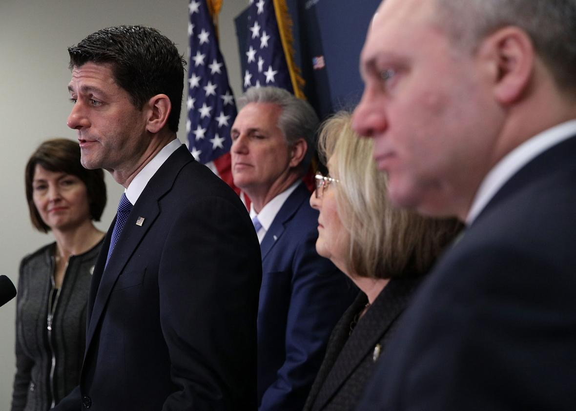 Republicans discussed the repealing of the Affordable Care Act.