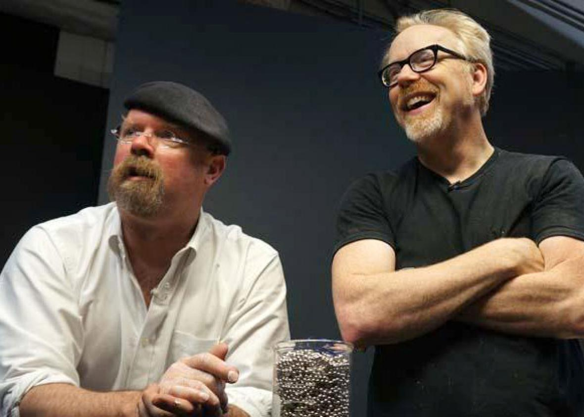 Jamie Hyneman, left, and Adam Savage from MythBusters.