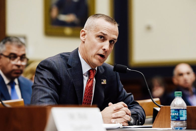 Corey Lewandowski testifies before the House Judiciary Committee on Tuesday in Washington.